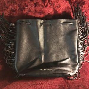 Victoria's Secret Fringe Hobo Drawstring Backpack